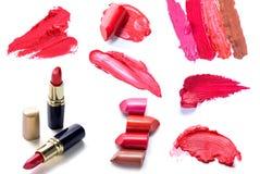 Cosmetici stabiliti del rossetto Immagini Stock