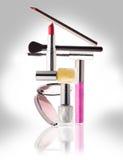 Cosmetici Trucco, bellezza e concetto di freschezza Fotografia Stock Libera da Diritti