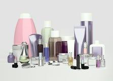 Cosmetico di bellezza e quotidiano di cura e prodotti di bellezza Crema di fronte, ey Immagini Stock Libere da Diritti