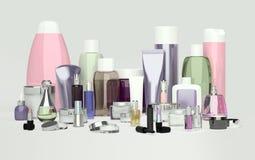 Cosmetico di bellezza e quotidiano di cura e prodotti di bellezza Crema di fronte, ey Fotografie Stock