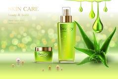 Cosmetico di cura di pelle Fotografia Stock
