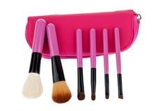 Cosmetico professionale della spazzola di trucco Fotografia Stock