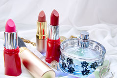 Cosmetics. Photo with the different cosmetics Stock Photos