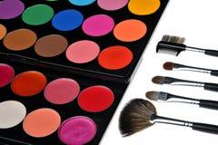 Cosmetics. Women show a very bright color cosmetics Stock Photo