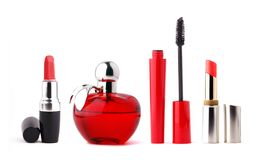 Cosmetics. Set for makeup on white background Stock Image