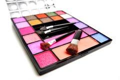 Cosmetics. Colorful cosmetics on white background Stock Image