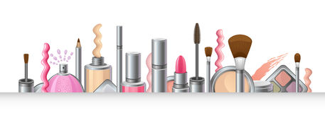 Cosmetics. Set on a white background royalty free illustration