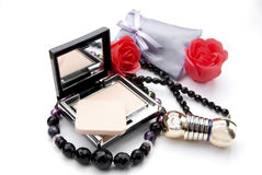 Cosmetics accessories Royalty Free Stock Photos