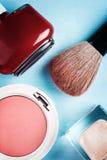 Cosmetics Accessories, Top view Stock Photo