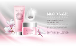 Cosmetics advertisement Stock Image
