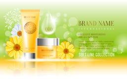 Cosmetics advertisement Stock Photos