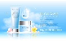 Cosmetics advertisement Stock Photography