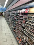 Cosmetics aisle in Walgreens Pharmacy Stock Photo