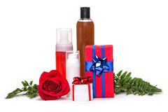 Cosmetics as a gift Stock Images