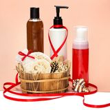 Cosmetics as a gift Royalty Free Stock Photos