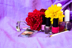 Cosmetics background Stock Photos