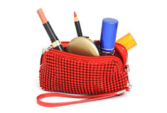 Cosmetics bag Stock Photo
