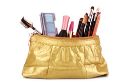 Cosmetics bag Stock Photography
