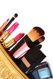 Cosmetics bag Royalty Free Stock Photos