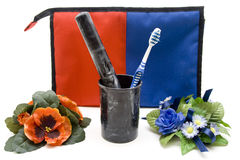 Cosmetics bag Royalty Free Stock Photo
