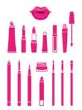 Cosmetics for beautiful lips Royalty Free Stock Photos