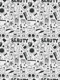 Cosmetics beauty elements doodles hand drawn line icon, eps10 Royalty Free Stock Images