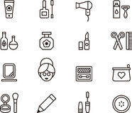Cosmetics and beauty icon set  Royalty Free Stock Images