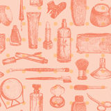 Cosmetics And Beauty Seamless Pattern Vector royalty free illustration