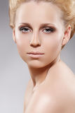 Cosmetics, beauty. Sensual woman with pure skin Royalty Free Stock Images