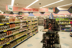 Cosmetics beauty shop. Beauty shop is getting more and more popular. Consumers spend more money in these products despite the economic depression Stock Image