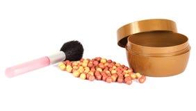 Cosmetics blush. Isolated on white Royalty Free Stock Image