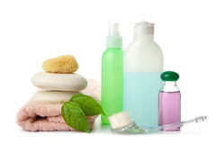 Cosmetics and body care isolated Stock Photos
