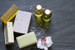 Cosmetics for body care and spa abstract Stock Photos