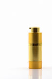 Cosmetics bottle, Golden Blank packaging bottle. Stock Photography