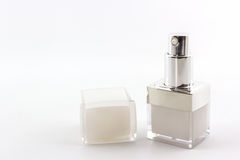 Cosmetics bottle, packaging. Stock Photo