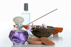 Cosmetics, bottle of perfume Royalty Free Stock Photos