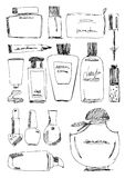 Cosmetics bottle set. Royalty Free Stock Photo