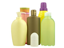 Cosmetics bottles royalty free stock image