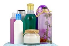 Cosmetics bottles Royalty Free Stock Image