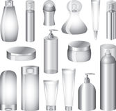 Cosmetics bottles and packing Royalty Free Stock Image