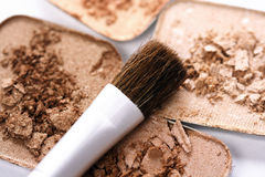 Cosmetics with Brush Royalty Free Stock Photo