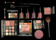 Cosmetics Brushes And Accessories Stock Images