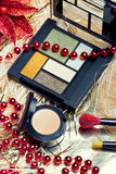Cosmetics for Christmas night makeup Royalty Free Stock Image