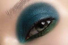 Cosmetics, close-up eye make-up. Fashion eyeshadow Stock Images