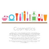 Cosmetics. Colorful Cosmetics Set Vector Illustration Stock Image