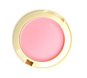 Cosmetics. Compact powder on white. Photo. Stock Image