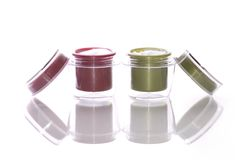 Cosmetics cream. On the white background Royalty Free Stock Photography