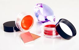 Cosmetics with a crystal Royalty Free Stock Photos