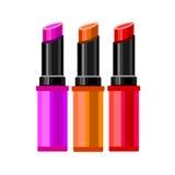 Cosmetics design glamour brush care skin beautiful face woman set Stock Photos