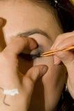 Cosmetics on eyelashes stock images